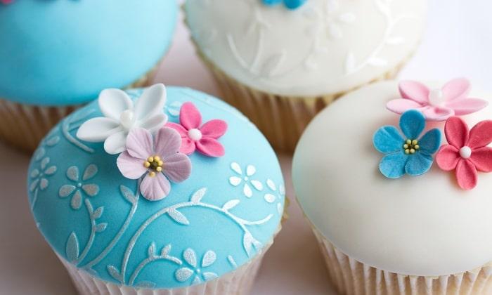 Cupcakes decorados con fondant