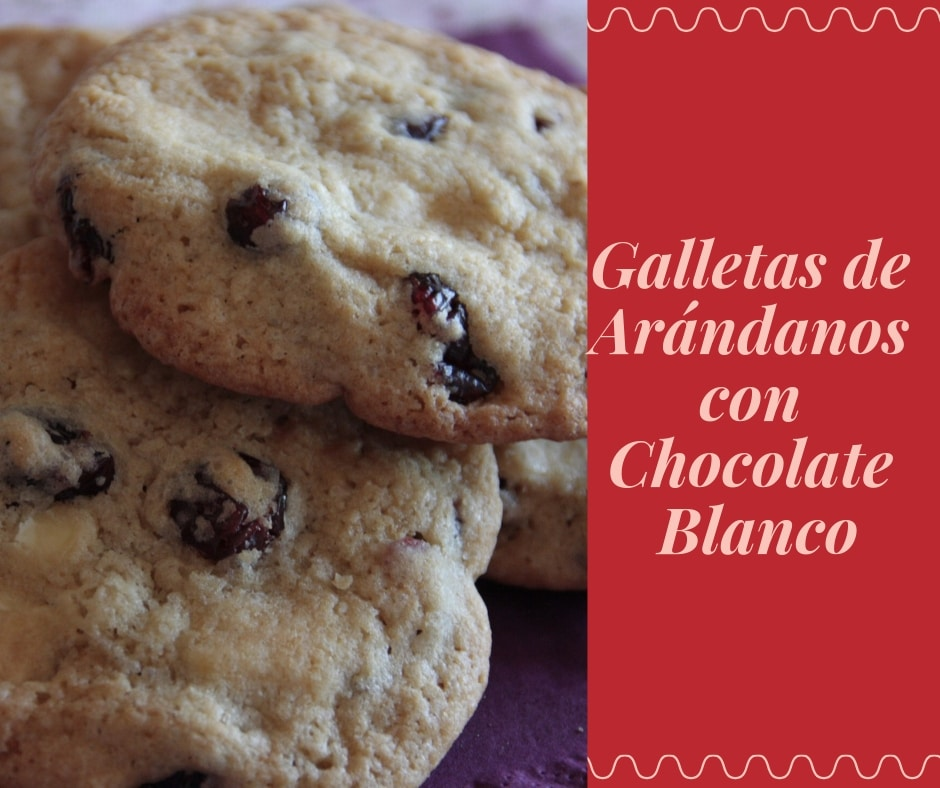 galletas de arandanos y chocolate